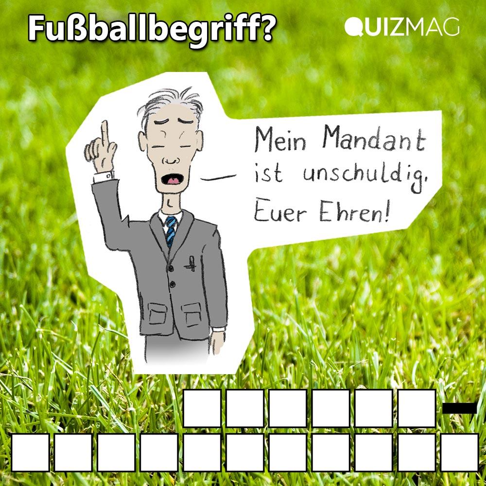 Fußballbegriffe Kreuzworträtsel